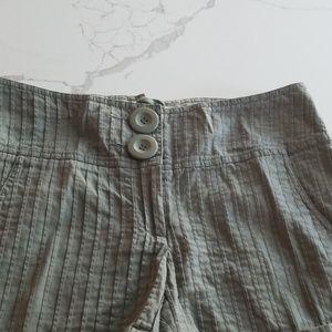 Cute army green summer shorts